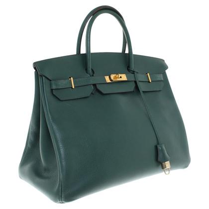 """Hermès """"Birkin Bag 40"""" in colore verde scuro"""