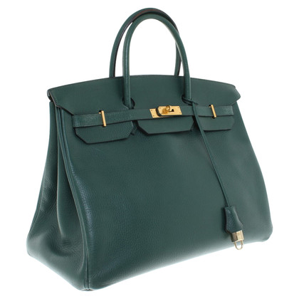 "Hermès ""Birkin Bag 40"" in donkergroen"