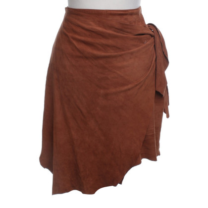 Moschino Cheap and Chic Suede Skirt in Brown