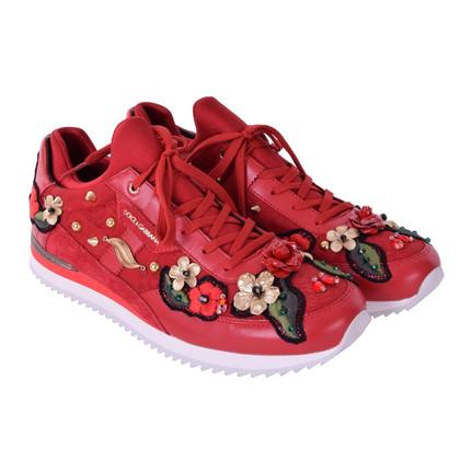 Dolce & Gabbana Sneakers mit Stickerei