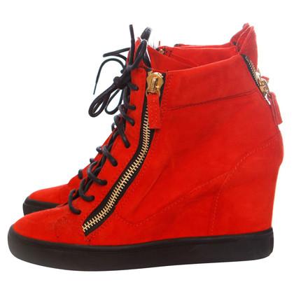 Giuseppe Zanotti Zeppe delle sneaker in rosso