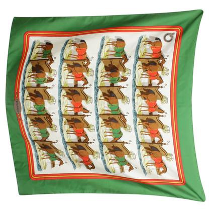 Hermès Silk scarf with horse motif