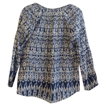 Velvet Blouse with pattern