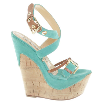 Gianmarco Lorenzi Wedges in turquoise