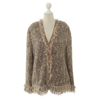 Basler Knit Jacket with fringe
