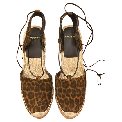 Saint Laurent Cunei di stampa leopardo