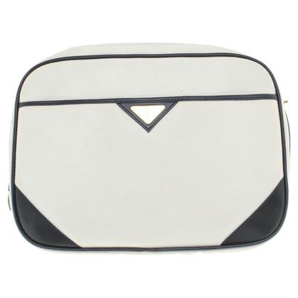 Yves Saint Laurent Borsa a spalla in crema bianca
