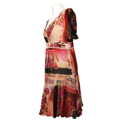 John Galliano zijden jurk met volants