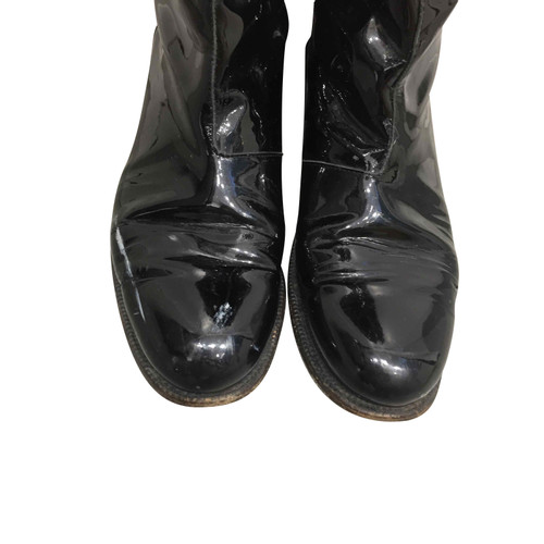 343b38f2152 Yves Saint Laurent Patent leather boots - Second Hand Yves Saint ...