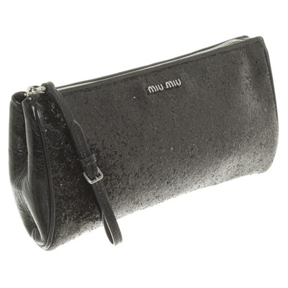Miu Miu clutch with glitter coating