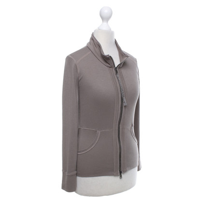 Marc Cain Sweat jacket in taupe