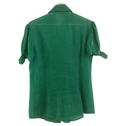Ermanno Scervino Blouse met korte mouwen in groen