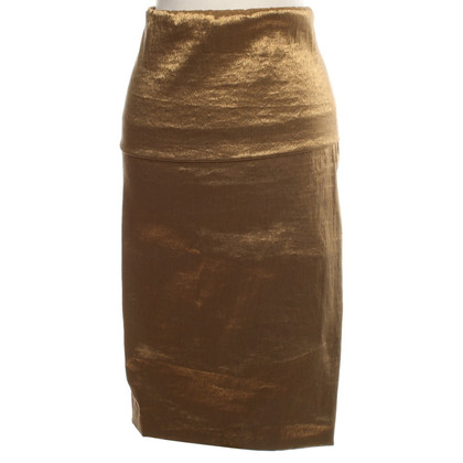 Donna Karan skirt in gold