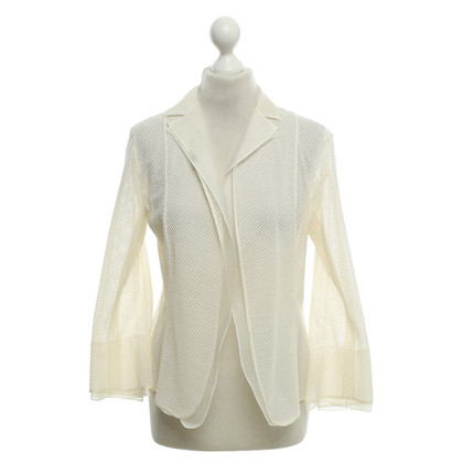 Akris Silk blazer in crème wit
