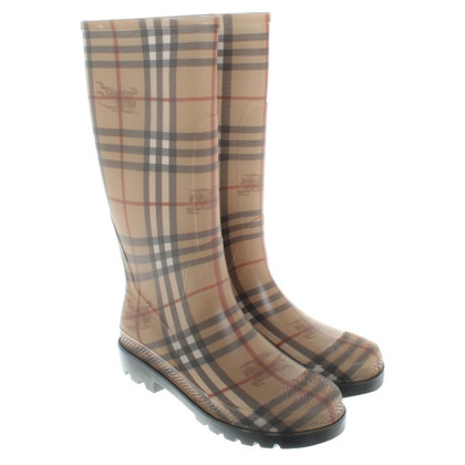 Burberry Wellington boots with Nova check pattern