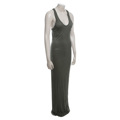T by Alexander Wang Kaki-gekleurde maxi dress