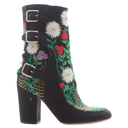 Laurence Dacade Ankle boots with floral embroidery