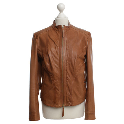Boss Orange Leather jacket in brown