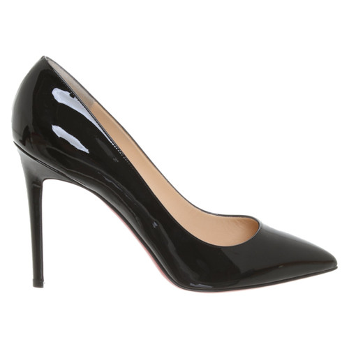 release date: ac842 fa7f5 Christian Louboutin Decollete 554 Patent leather in Black ...