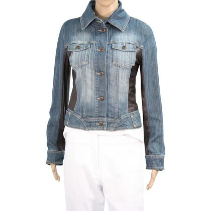 Karen Millen giacca di jeans in pelle