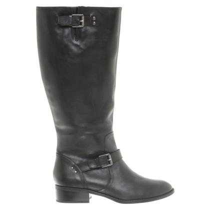 Ralph Lauren Leren laarzen in zwart