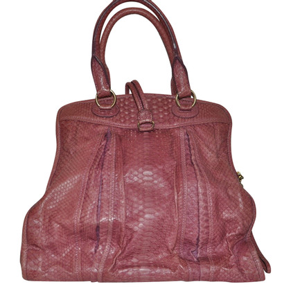 Rena Lange Shoulder bag with reptile embossing