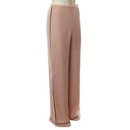 Miu Miu Silk trousers with Gallonstreifen