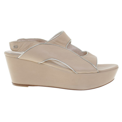Escada Platform sandals in beige