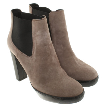 Hogan Taupe colored ankle boots