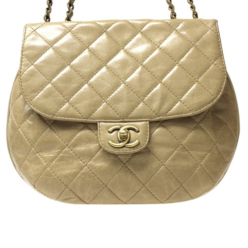 4cc5a5f65762 Chanel Clutch Bag Leather in Beige - Second Hand Chanel Clutch Bag ...