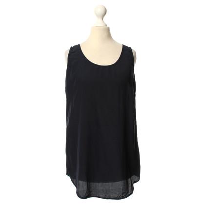 Odeeh Silk top in dark blue