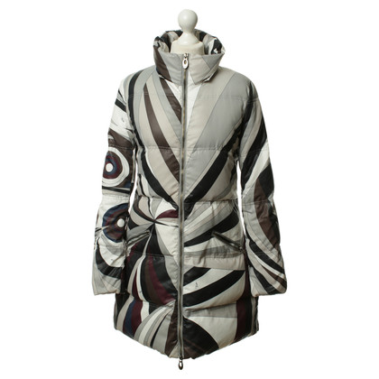 Emilio Pucci Gedessineerde jas in tinten van aarde