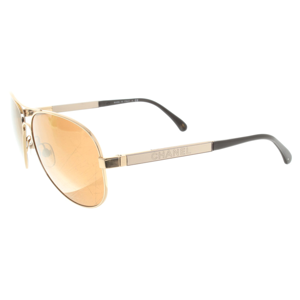 Chanel Pilot-style sunglasses - Buy Second hand Chanel Pilot-style ...