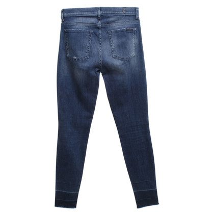 7 For All Mankind Jeans in Blau mit Waschung