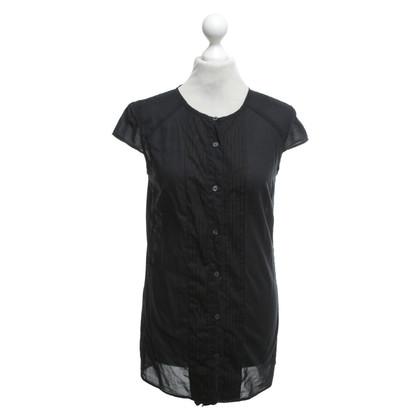 Karl Lagerfeld Short-sleeved blouse in black