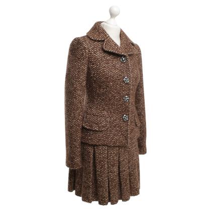 Dolce & Gabbana Completo di tweed con fiori di strass