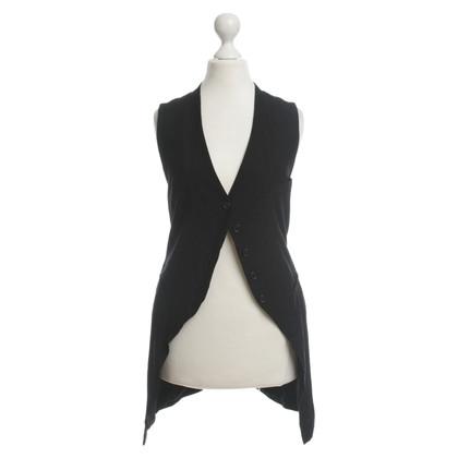 Ann Demeulemeester Zwarte vest, 36, Tuxedo-stijl
