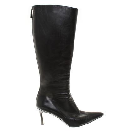 Gucci Schwarze Stiefel aus Glattleder