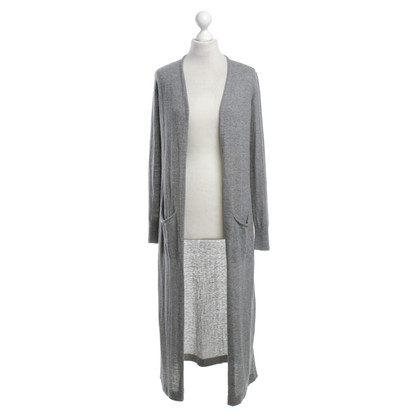 Laurèl Lange Strickjacke in Grau
