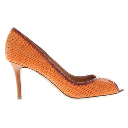 Sergio Rossi Peeptoes in orange