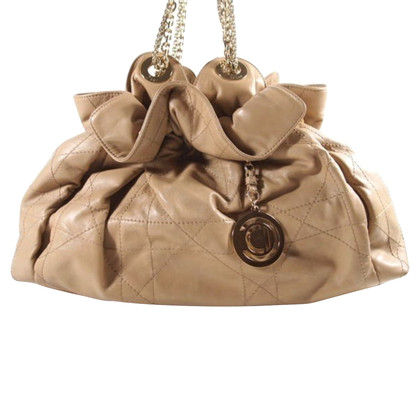 Christian Dior Ledertasche in Beige