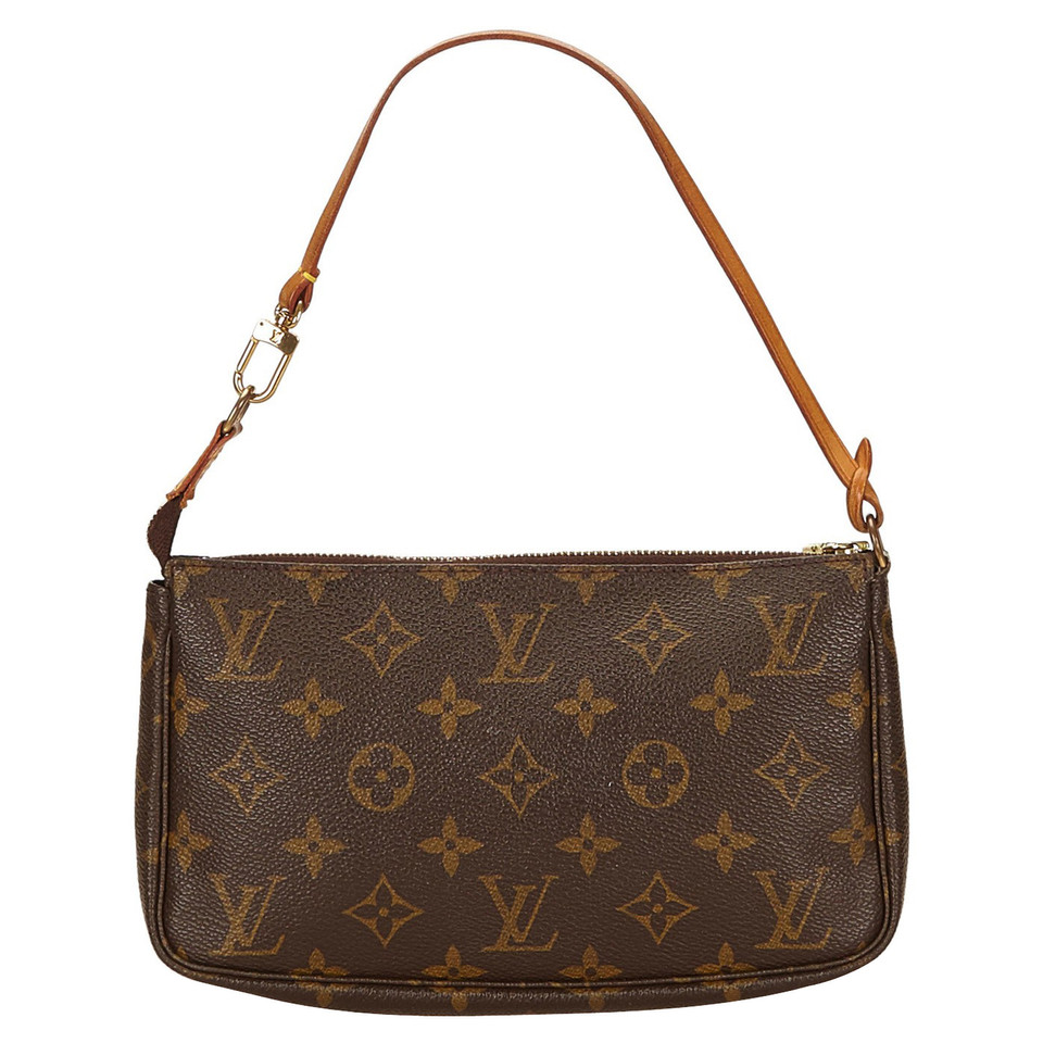 louis vuitton pochette accessoires monogram canvas second hand louis vuitton pochette. Black Bedroom Furniture Sets. Home Design Ideas