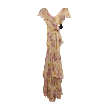 Christian Dior Silk dress with delicate flowers