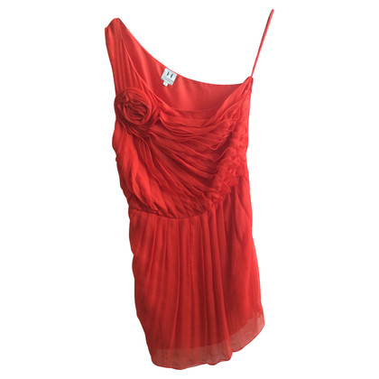 Halston Heritage Red silk dress