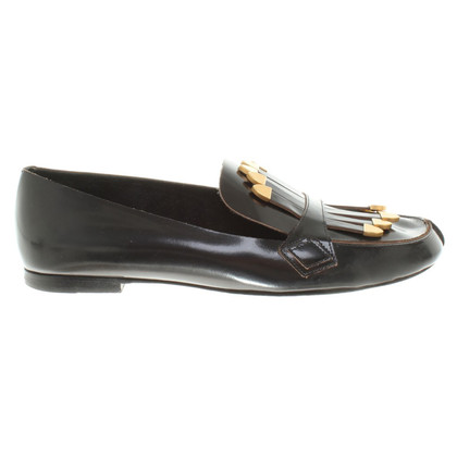 Chloé Leather-Loafer in black