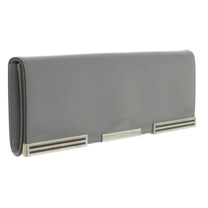 Gucci clutch in light gray