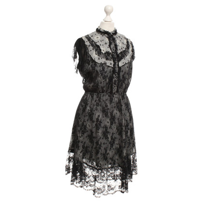 Anna Sui Lace dress in black / gray