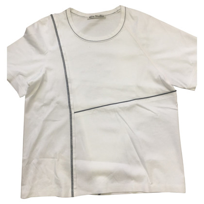Acne T-shirt in bianco
