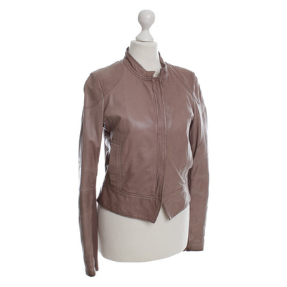 Cinque Leather jacket in Taupe