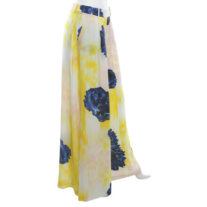 Lala Berlin Silk trousers with floral print
